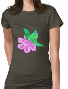 Origami Butterfly Womens Fitted T-Shirt