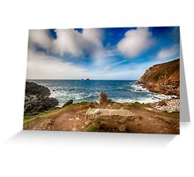 Seat with a view Cot Valley Cornwall Greeting Card