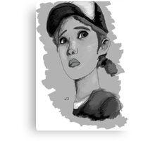The Walking Dead Season 2- Clementine Canvas Print