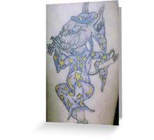 Ink wizard logo Tattoo Greeting Card