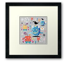 funny monsters Framed Print