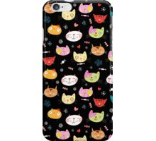 funny portraits of cats iPhone Case/Skin