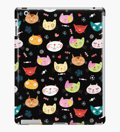 funny portraits of cats iPad Case/Skin