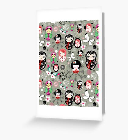 Different funny dolls Greeting Card