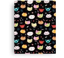 funny portraits of cats Canvas Print