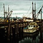 Dock in San Simeon - Fishing Boats by Doreen Erhardt