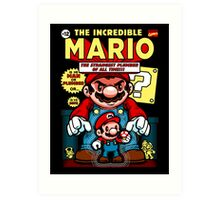 Incredible Mario Art Print