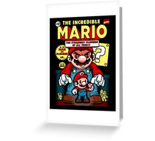 Incredible Mario Greeting Card