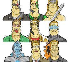 Movie Mugshots - Arnie by seantw24