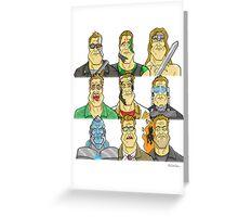 Movie Mugshots - Arnie Greeting Card