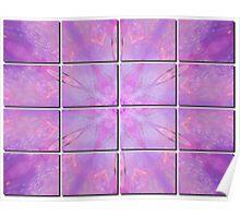 Soft Pink Fractal Tiled Poster