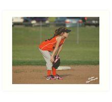 Second baseman Art Print