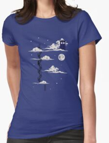 He lives on a cloud in the sky Womens Fitted T-Shirt