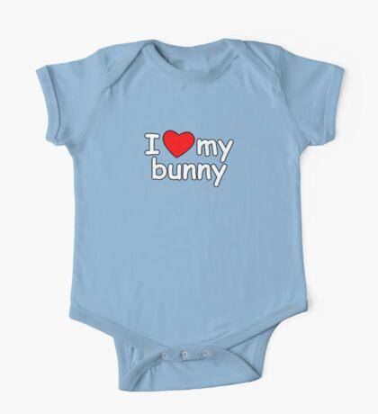 I Love My Bunny One Piece - Short Sleeve
