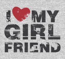 I Love My Girlfriend Vintage Valentines Day Kids Tee