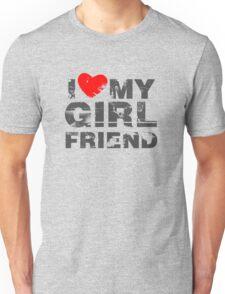 I Love My Girlfriend Vintage Valentines Day Unisex T-Shirt