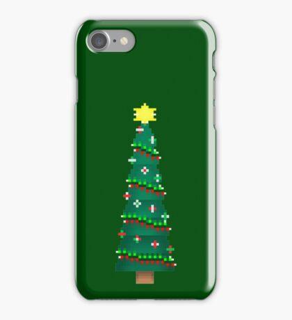 Pixel Christmas Tree iPhone Case/Skin