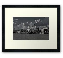 CONRAD Industries Shipyard Framed Print