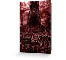 VISION OF HELL (red version) Greeting Card