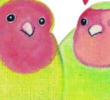 Cute Watercolor Love Birds Sticker