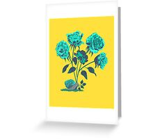 Snails N' Roses Greeting Card