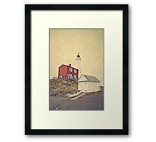 Lighthouse Vancouver Island Framed Print