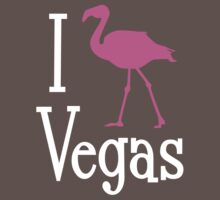 I Love Vegas design for dark apparel by divebargraphics