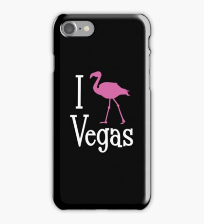 I Love Vegas design for dark apparel iPhone Case/Skin