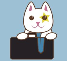 Business CAT with a suitcase by jazzydevil