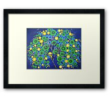 peacock tree with circle leaves Framed Print