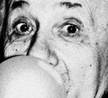 Albert Einstein bubble gum Sticker