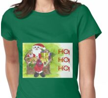 Santa Ho Ho Ho! Womens Fitted T-Shirt