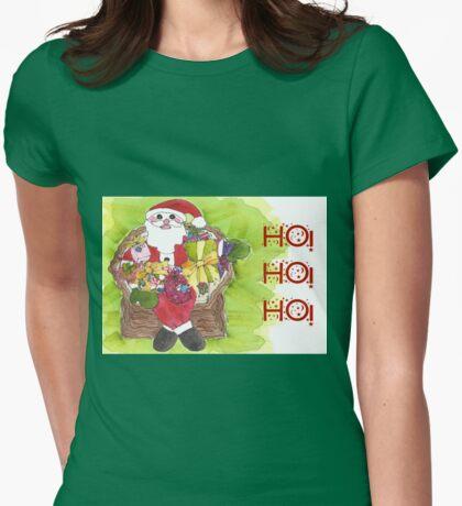 Santa Ho Ho Ho! Womens Fitted T-Shirt
