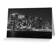 Sydney Opera House Mono Greeting Card