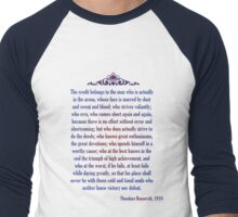 Man in the Arena - Teddy Roosevelt Men's Baseball ¾ T-Shirt