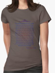 Man in the Arena - Teddy Roosevelt Womens Fitted T-Shirt