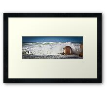 Huge Seas -Newcastle  Framed Print