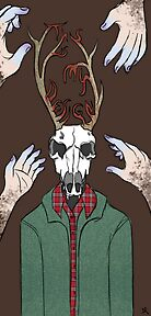 This Is My Design (Stag Head) - Print Version by HardlyQuinn