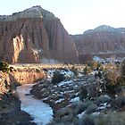 Cathedrals and Frozen Stream by BrianAShaw