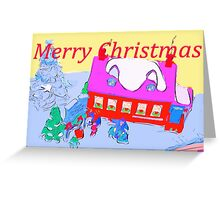 Christmas in the village Greeting Card