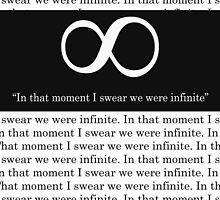 In that moment I swear we were infinite. | Perks of Being a Wallflower by faw-n