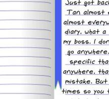 Dear Diary Sticker