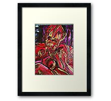 fragment of the picture BODY LANGUAGE Framed Print