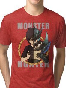 Hunter's Life (Neon Custom) Tri-blend T-Shirt