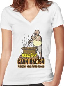 Cannibalism Women's Fitted V-Neck T-Shirt