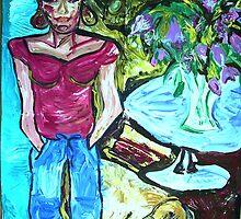 LUKE AND LOIS - acrylic, tempera, paper 36 x 48'' by irishrainbeau