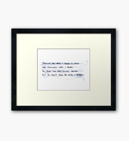 listen Framed Print