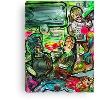 VIBRATIONS - tempera, acrylic, paper 18 x 24'' Canvas Print