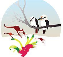 "Day 143   365 Day Creative Project  ""Kangaroos & Kookaburras"" by Robyn Williams"