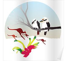 "Day 143 | 365 Day Creative Project  ""Kangaroos & Kookaburras"" Poster"